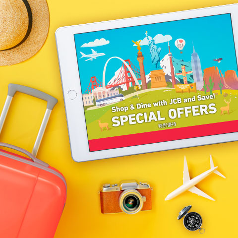 Special offers at popular sightseeing destinations in the US from JCB!