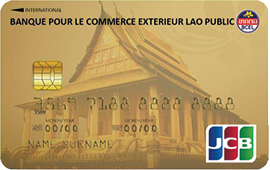 Cards jcb global website for Banque pour le commerce exterieur lao public